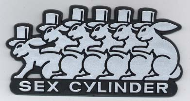 Accessoires divers vag/stickers Sexcylinder_silver