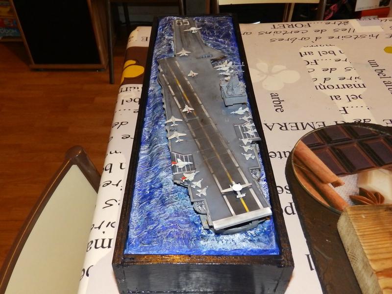Porte avion USS ENTREPRISE-revell-[Mise en scène marine] 1/720. 105900773