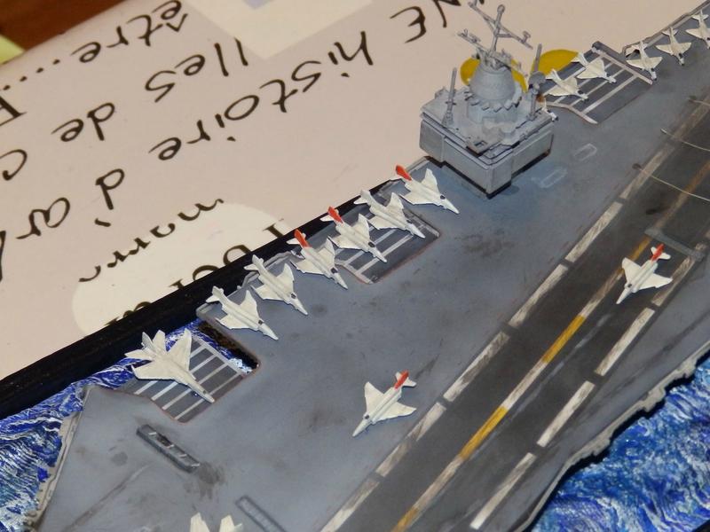 Porte avion USS ENTREPRISE-revell-[Mise en scène marine] 1/720. 105901346