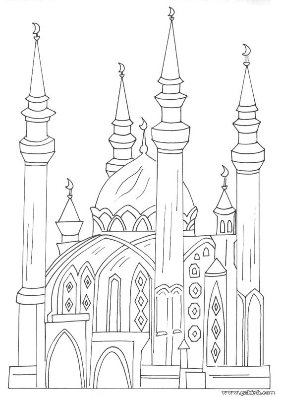Coloriage sur les mosquées  109668543