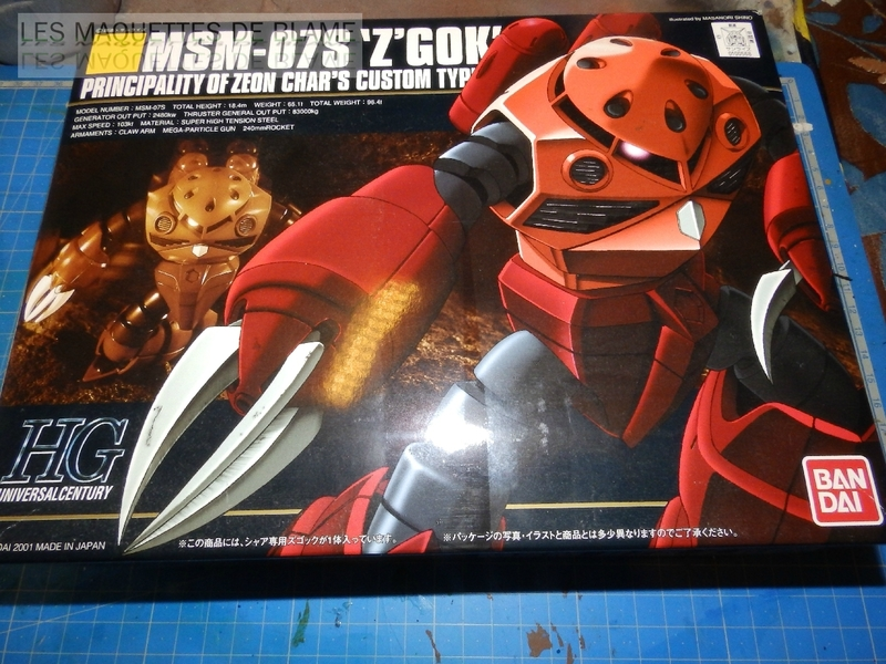 """MSM-07S Z'GOK CAMMANDER TYPE  """"ABANDONED AND RUST CUSTOM"""" - BANDAI - 1/144 - MONTAGE RAPIDE 116943914"""