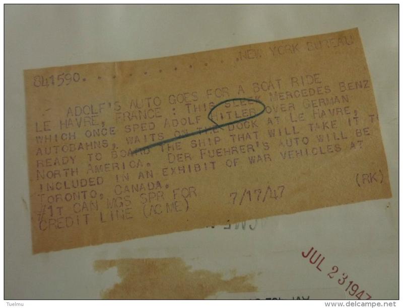 la Mercédès cadeau de Leclerc à de Gaulle 110640014