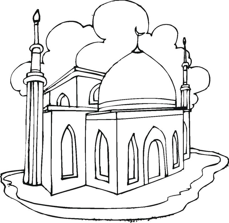 Coloriage sur les mosquées  103832335
