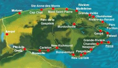 Canada – Un voyage de Québec vers la Gaspésie a travers les paroisses au 19 eme siècle Gaspesie