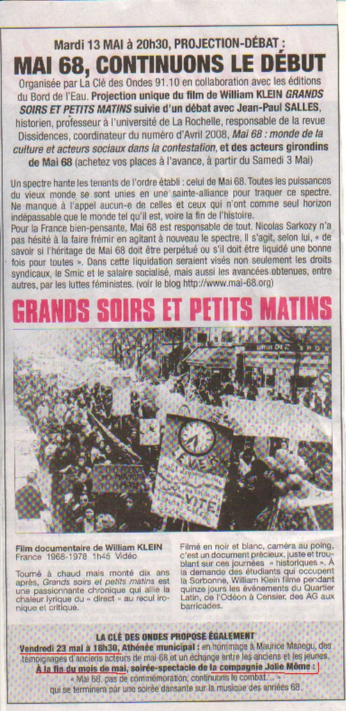 MAI 68 à Bordeaux !! 13Mai08