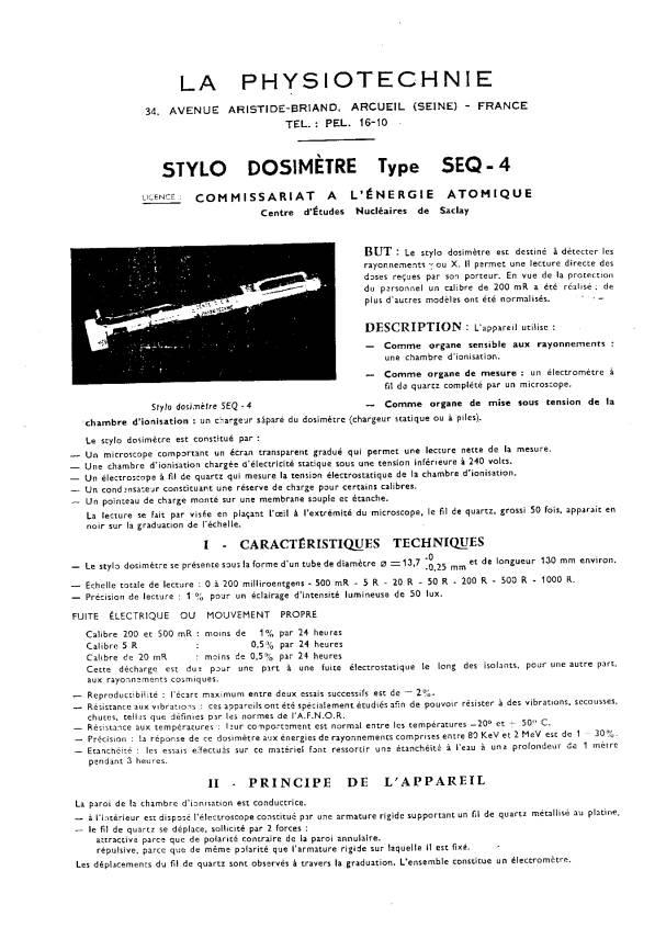 Ancien dosimètre (La Physiotechnie) 160mR - HELP please. Image095