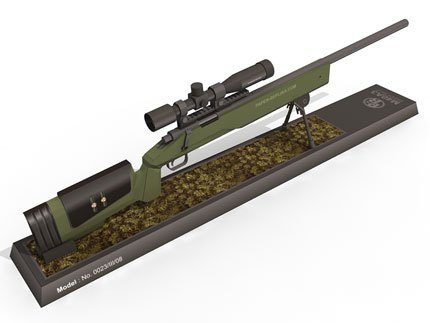Kartonmodell M40A3 Sniper-Rifle Free-Download Pic1