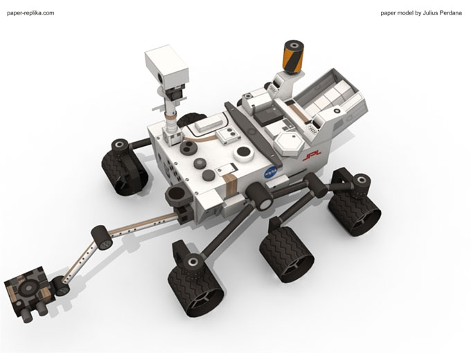 [maquette papier] Mars Pathfinder - rocky  & MSL Curiosity  ( au 1/12 ) Curiosity_instructions_7