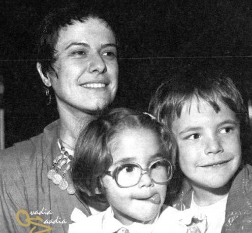 Vem pra Roda - Tânia Maria Em1974_com_os_filhos_joo_pedro_e_maria_rita