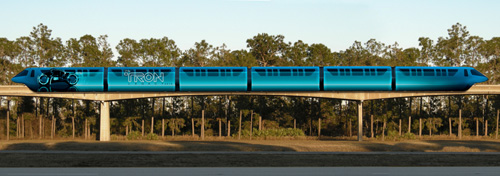 Disney Monorail Trains to Feature 'TRON: LEGACY' Art Trb216248SMALL