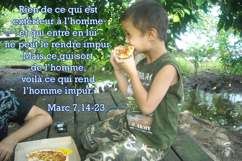 Jésus était-il végétarien ? Les chrétiens doivent-il être végétariens ? Marc-7-14-23aw