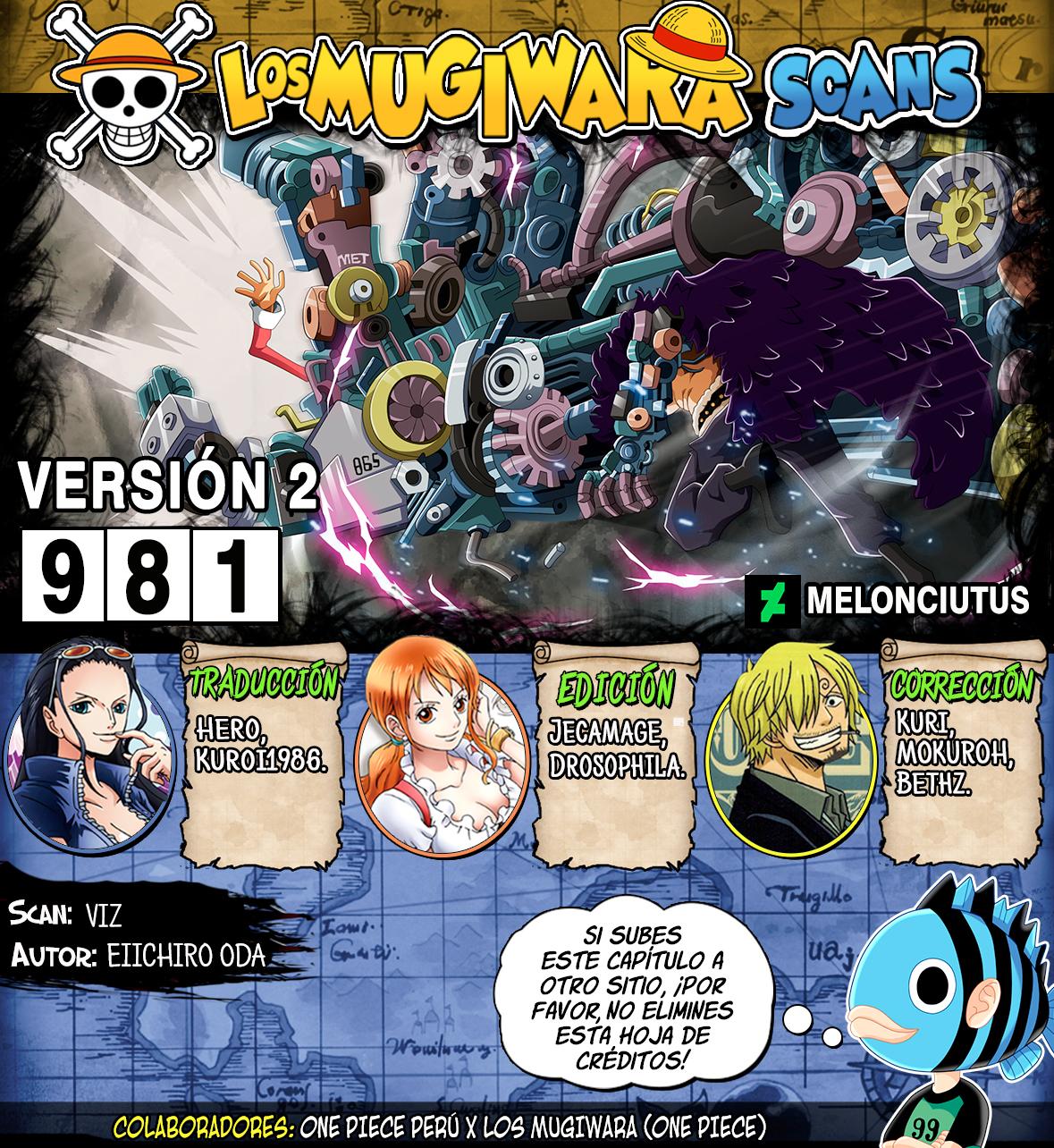 One Piece Manga 981 [Español] [Mugiwara Scans V2] 00