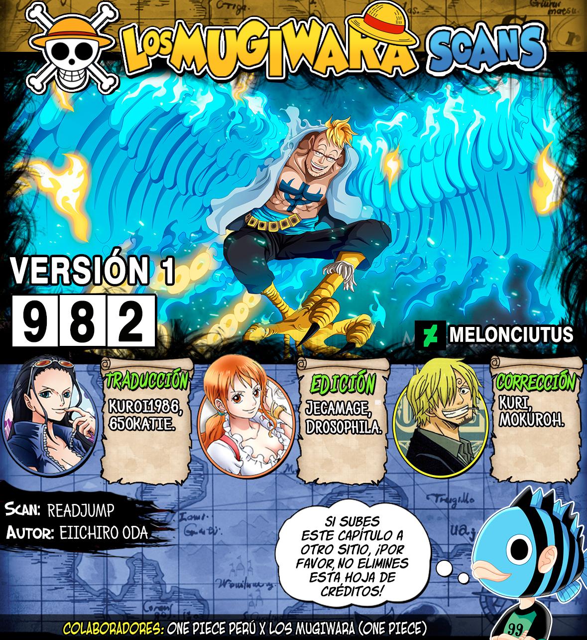 One Piece Manga 982 [Español] [Mugiwara Scans] 00