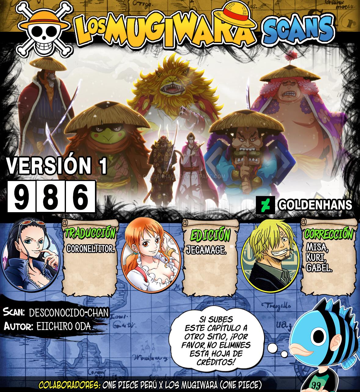 One Piece Manga 986 [Español] [Mugiwara Scans] 00