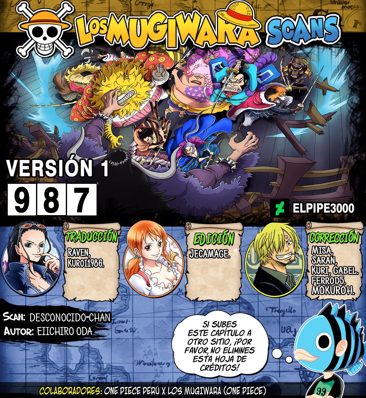 One Piece Manga 987 [Español] [Mugiwara Scans] 000