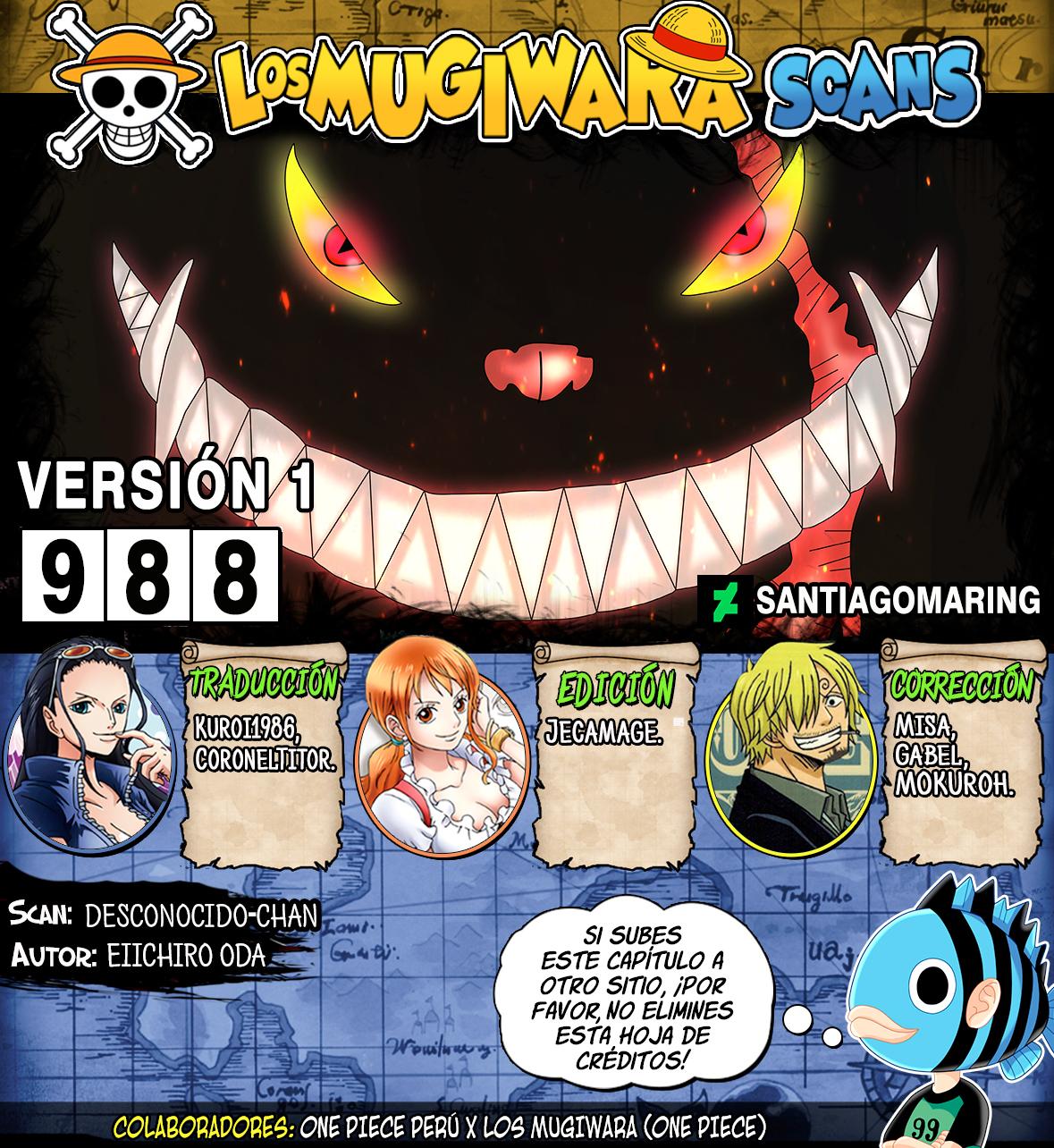 One Piece Manga 988 [Español] [Mugiwara Scans] 99