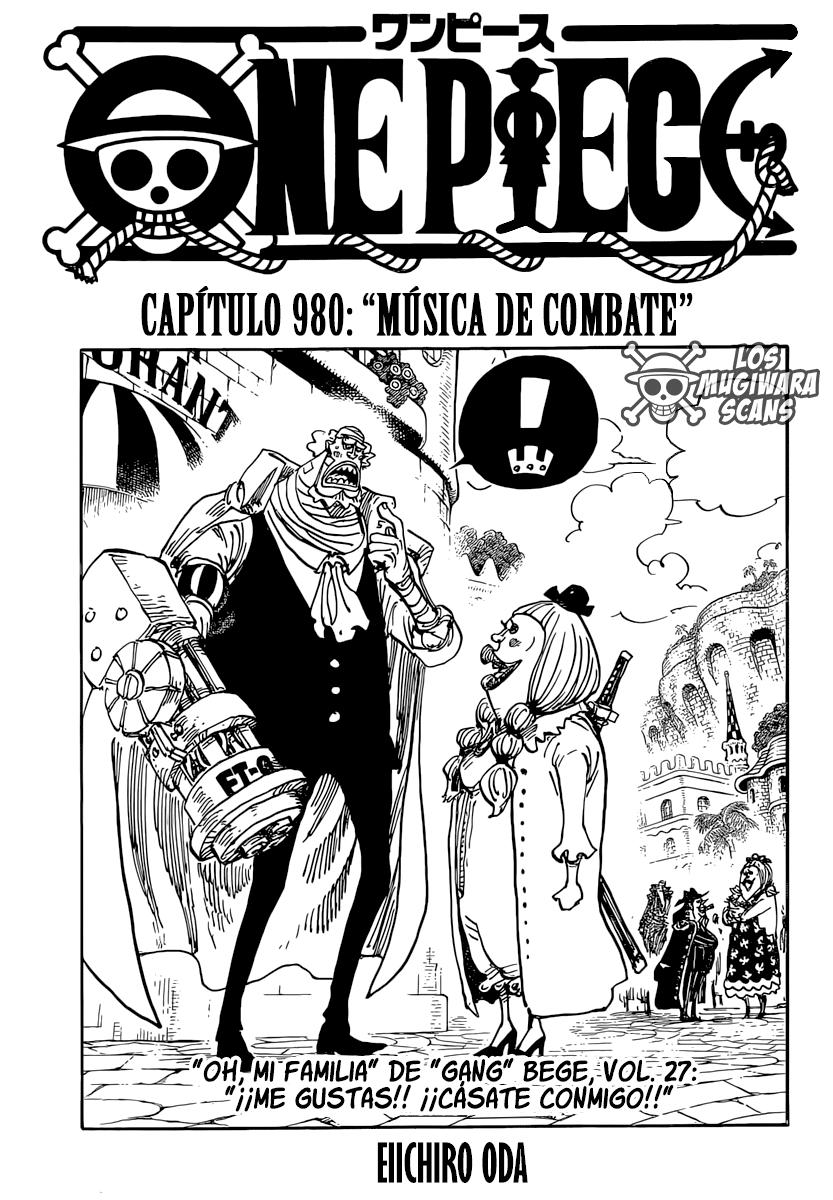 One Piece Manga 980 [Español] [Mugiwara Scans V2] 01
