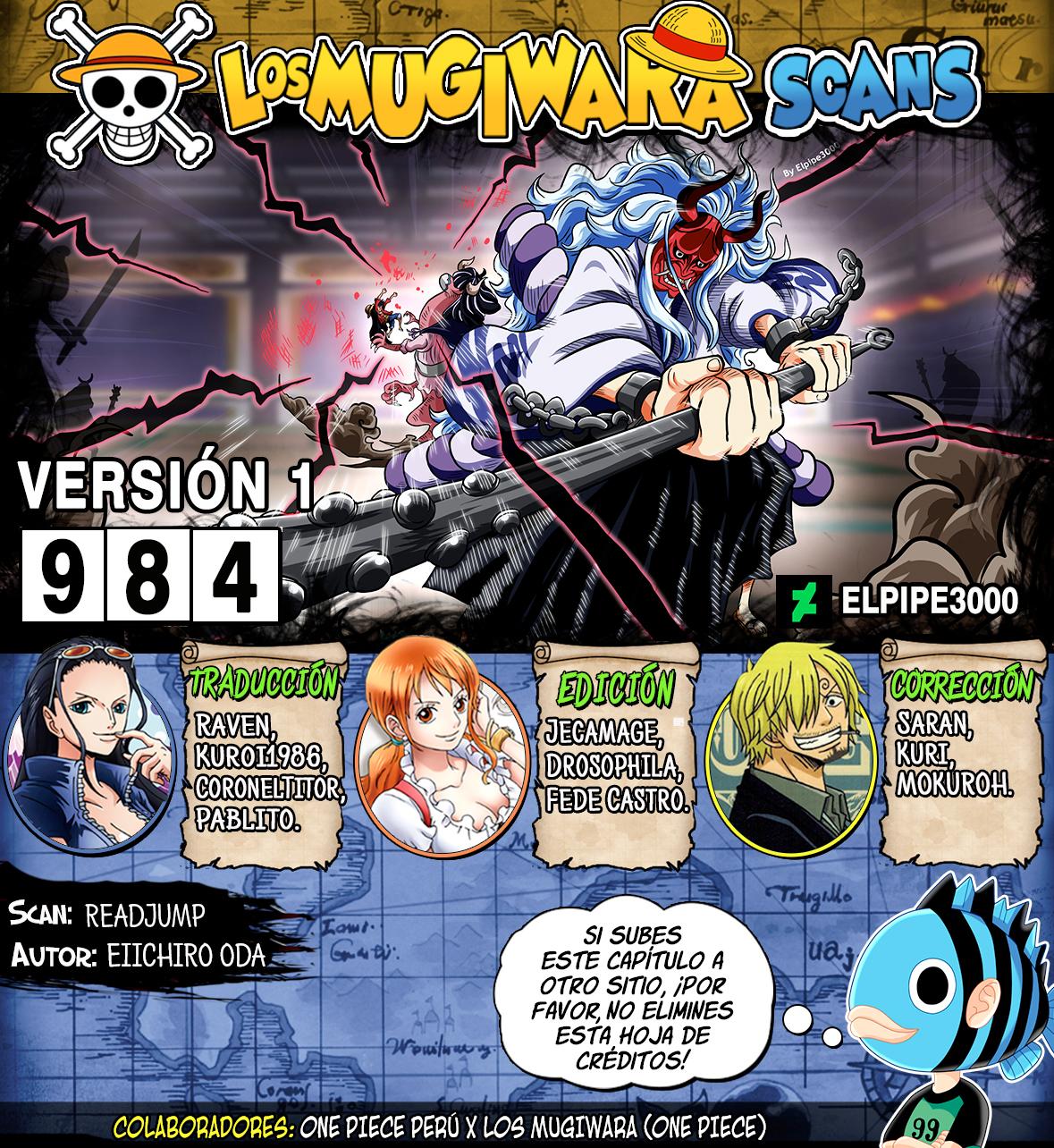 One Piece Manga 984 [Español] [Mugiwara Scans] 00