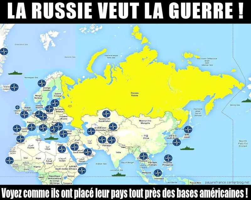 Washington joue la carte du terrorisme pour déstabiliser la Russie et la Chine Carte-Otan-Nato
