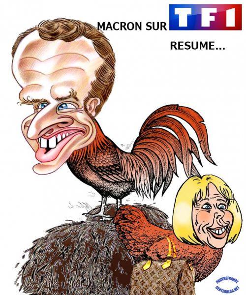 Le coq gaulois  Macron_sur_TF1
