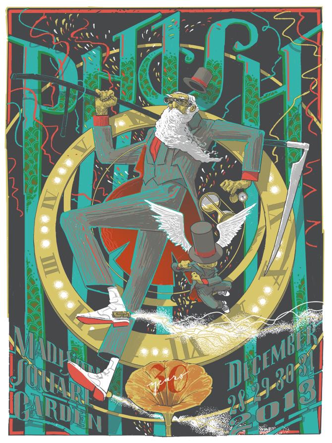Los posters de los conciertos  - Página 2 Phish_nyc