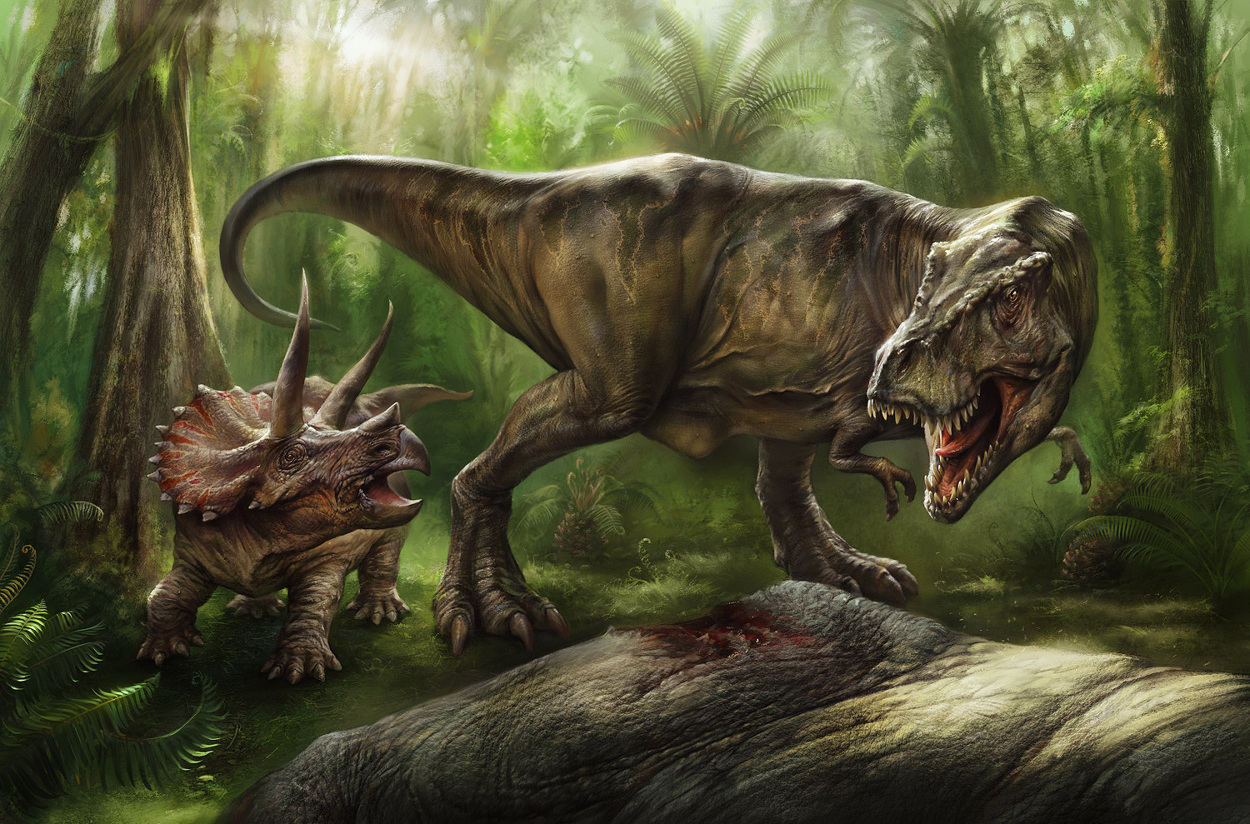 Pyrates of the Karribean VI.a--Dead Man's Hand - Page 3 Eldar-Zakirov-2016--Dinosaurs-TirannosaurusRex---Triceratops-Quarto-2_1250