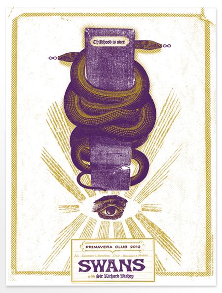 Los posters de los conciertos  Swans
