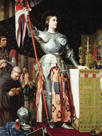 Bergère en armes Jeanne-d-arc-ingres