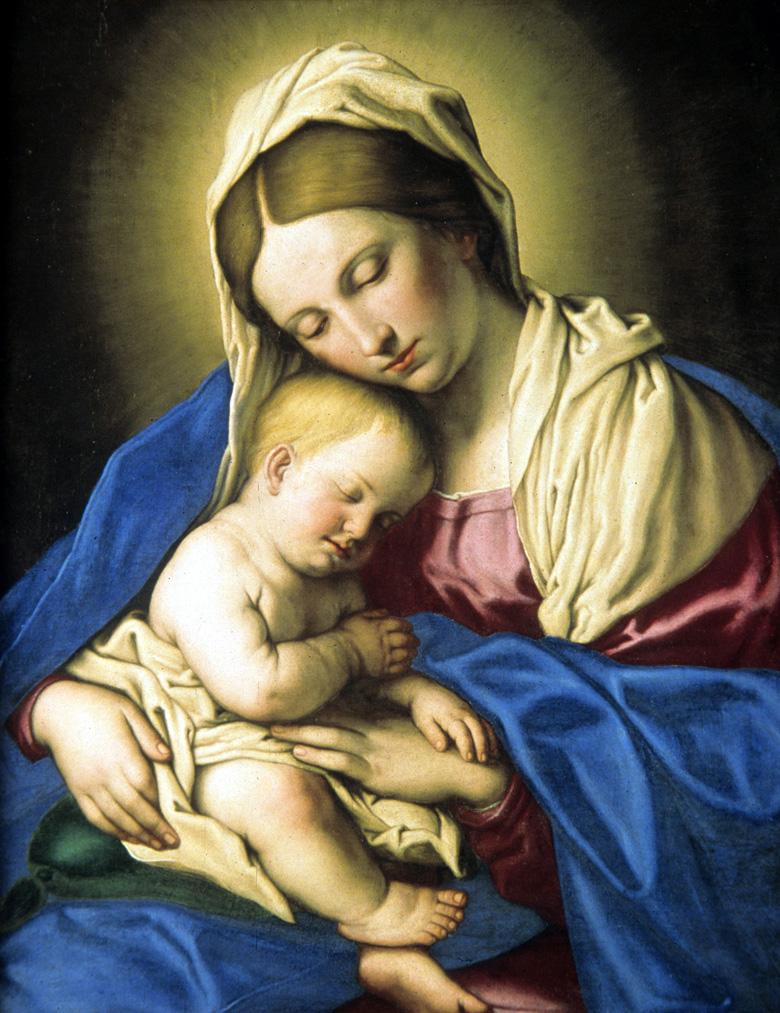 Chambre du fils du charpentier Vierge-a-l-enfant1