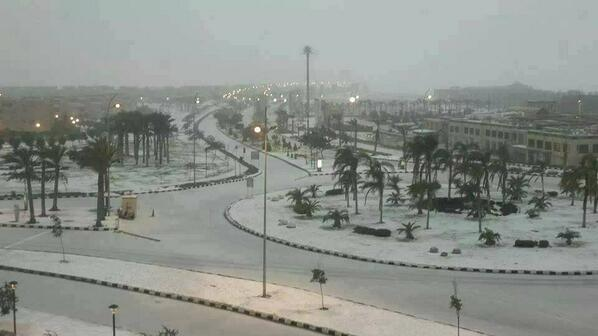 For the first time in 112 years, it snows in Cairo BbWkyAHCIAAsCnt