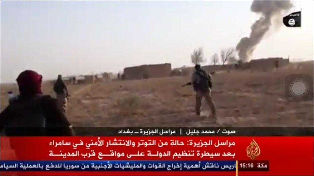 الدولة الإسلامية تقاتل على أبواب سامراء CSZ1m4KVAAAvCuk