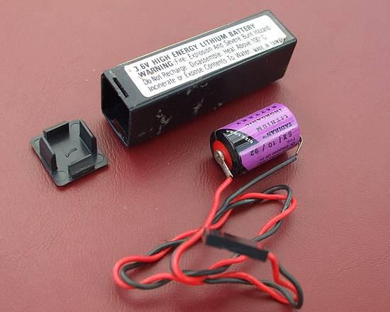 PANNE Bios PC 386 Inside-battery