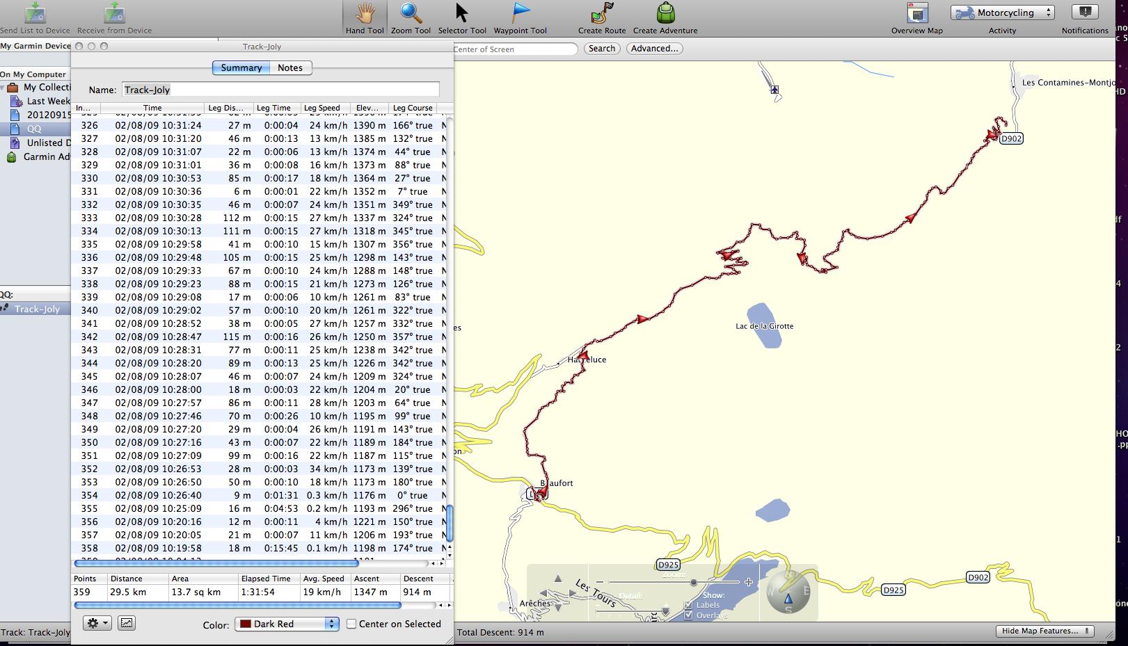 Comment transformer une trace en itinéraire sur Zumo ? 01-Joly-track-native