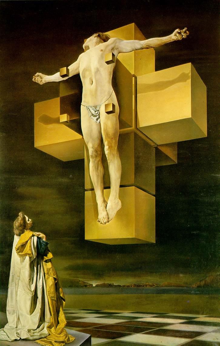 L'art et la mort dans l'imaginaire collectif (par les plus grands artistes de tout les temps) Crucifiction_salvador_dali