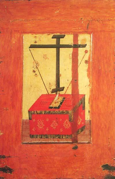 St Luc peignant la Vierge Autel_instruments_passion