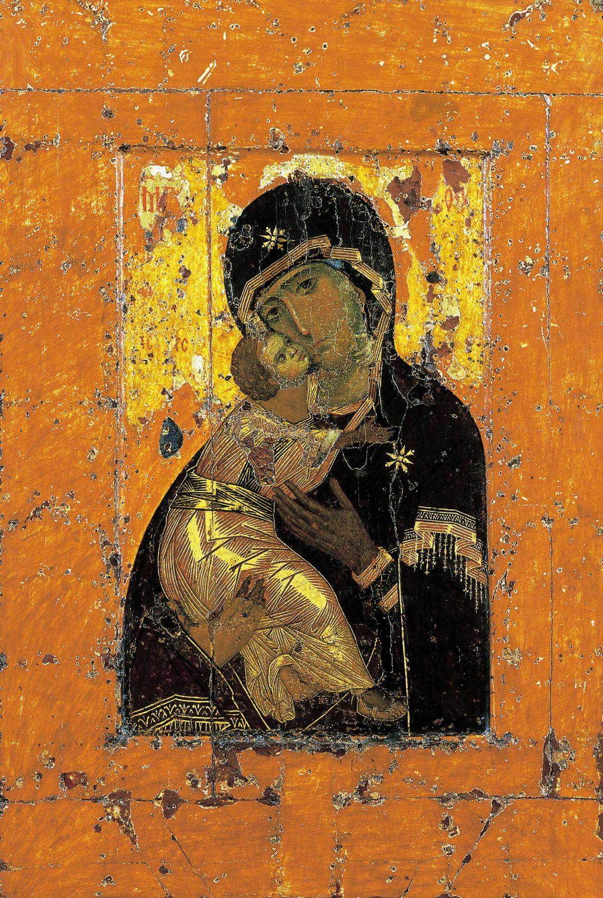 St Luc peignant la Vierge Vierge_de_Vladimir