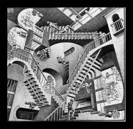 e tu cosa vedi? Escher-relativity1