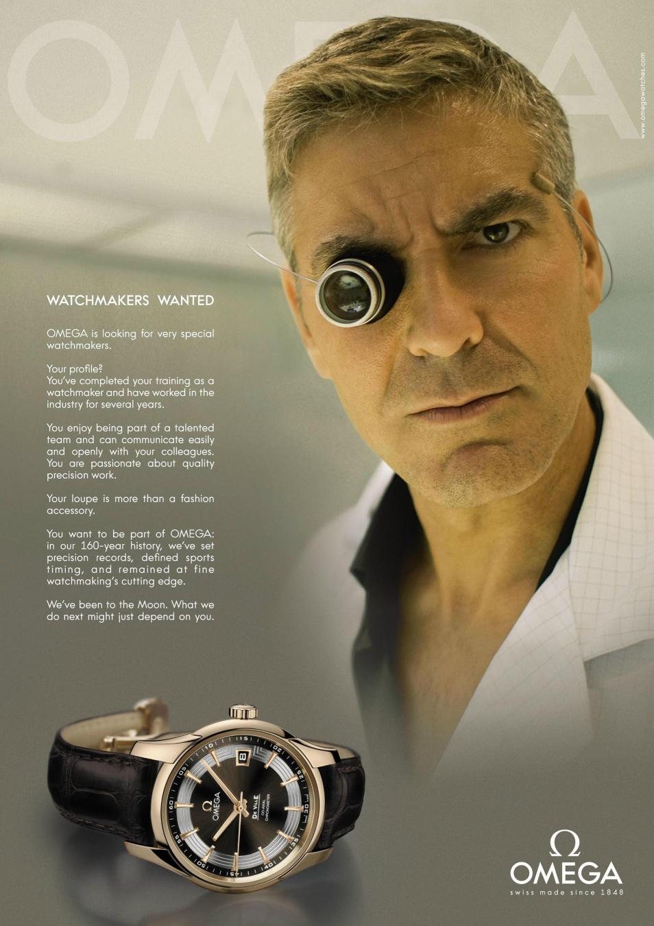 Actu : George Clooney devient horloger pour Omega Clooney