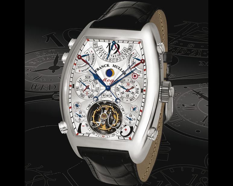 Quelle est la montre avec le plus grand nombre d'aiguilles sur le cadran ? Mega4