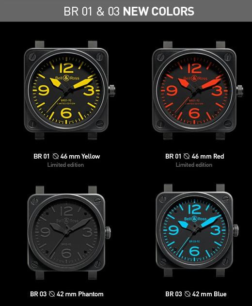 Bell & Ross ...Nouvelles couleurs pour la BR01 et la Br 03 Newbrcolors