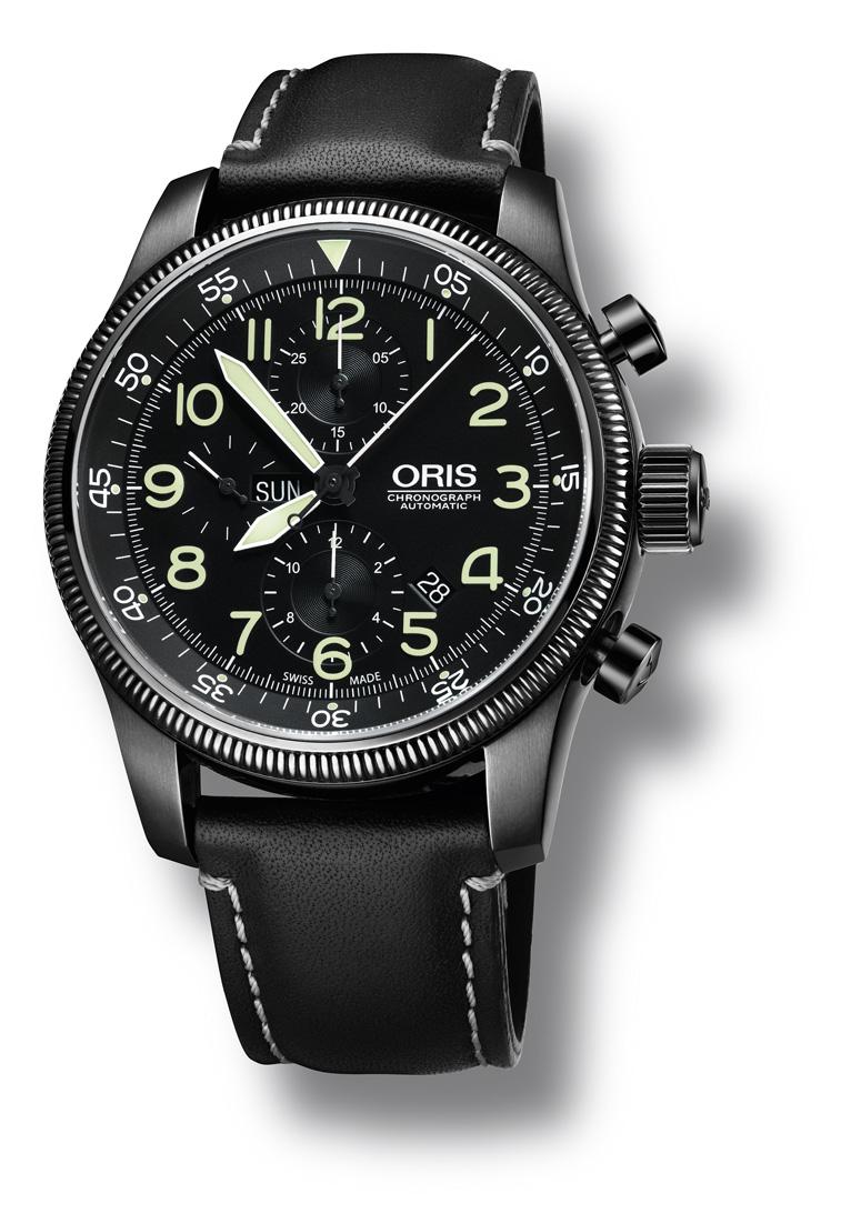 nouveaute oris un gros chrono de pilote Orisblackchron1