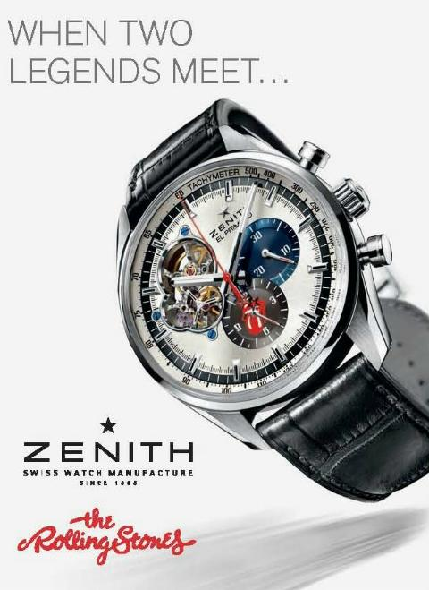 News : Zenith El Primero Chronomaster 1969 Tribute to The Rolling Stones Zenroll