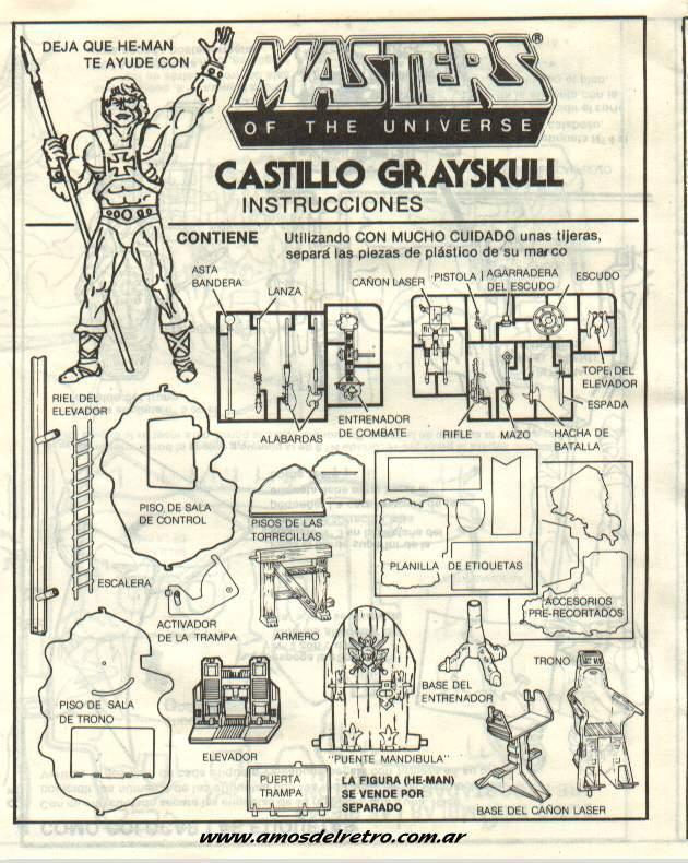 Notices Espagnoles Manual_Castillo_Grayskull_Tapa