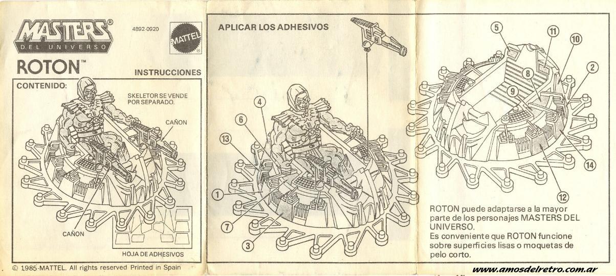 Notices Espagnoles Manual_Roton