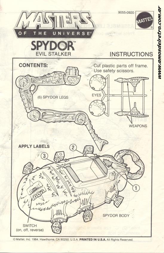 Notices Espagnoles Manual_Spydor_01