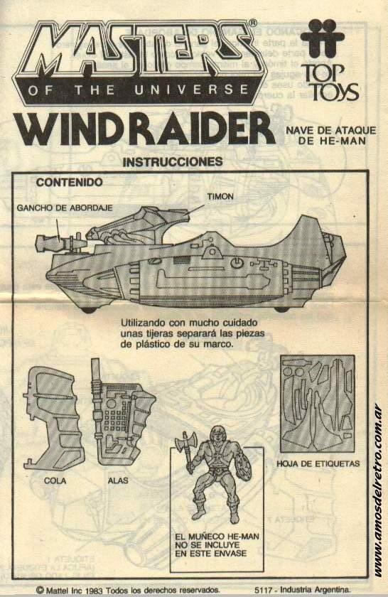 Notices Espagnoles Manual_Wind_Raider_01