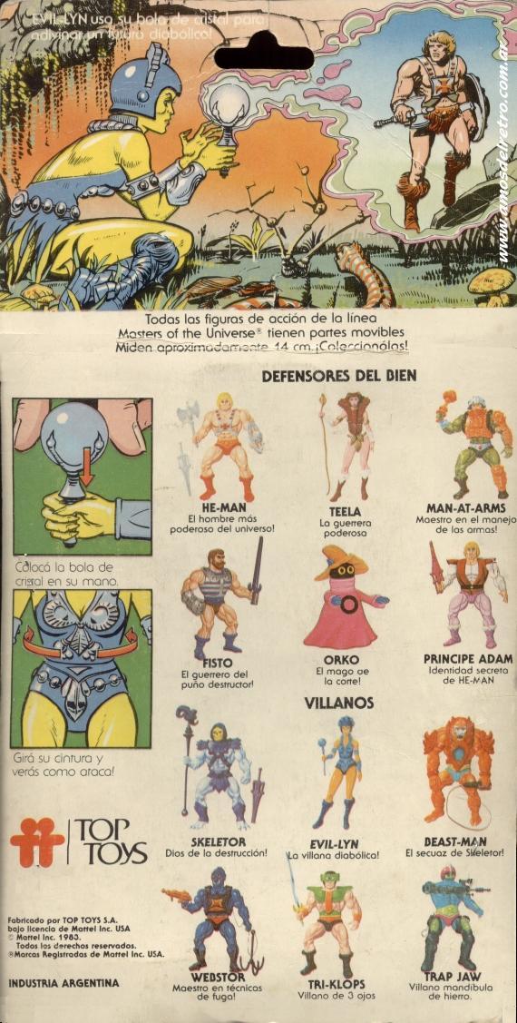 Les Backcards Top Toys Evil-Lyn_Carton