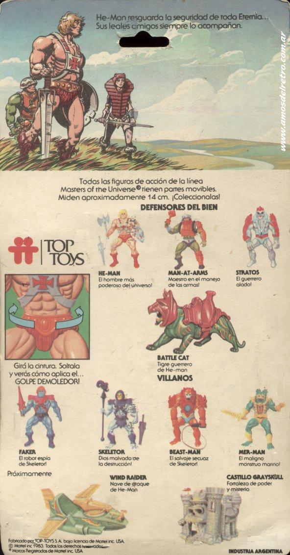 Les Backcards Top Toys Heman_Carton