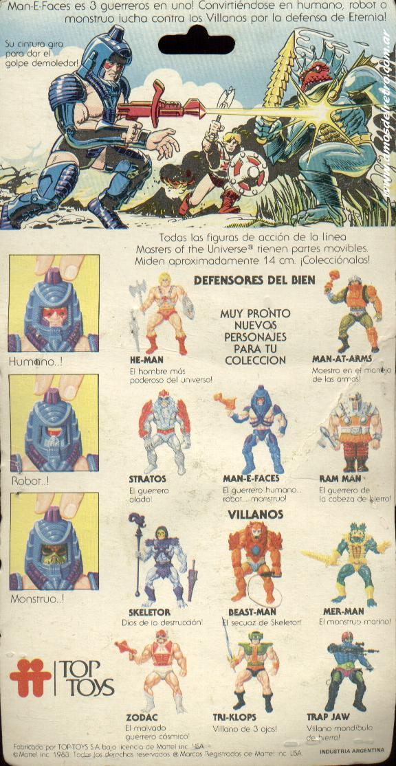 Les Backcards Top Toys Man-e-faces_Carton