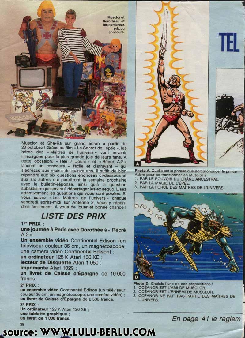 Motu apparaissant dans les magazines en FRANCE Tele7j1c